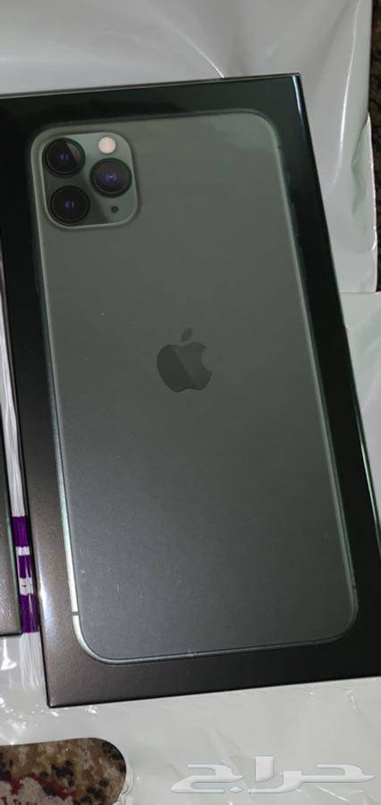ايفون 11 برو  ماكس 256 جيجا لون زيتي جديد