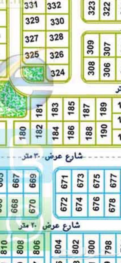 اللبيع ارض غرناطه ها رقم 184 شارع 30 تجاري مساحة 630