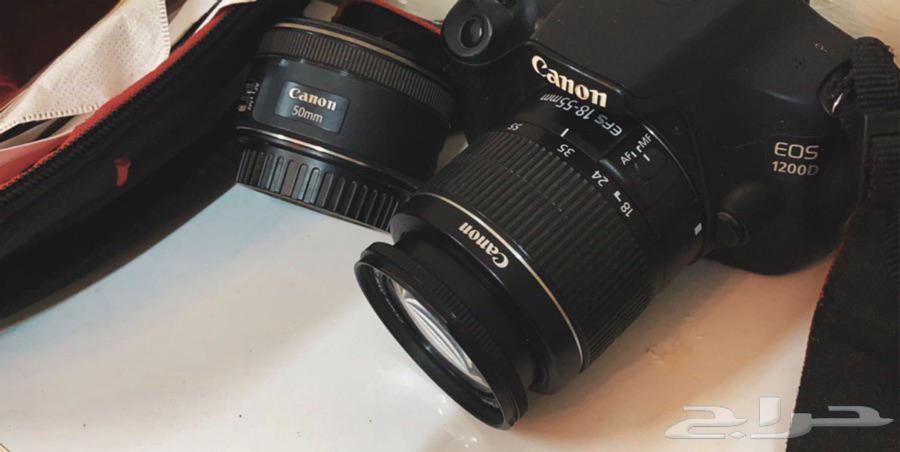 كاميرا كانون نوع 1200D   عدسة50mm