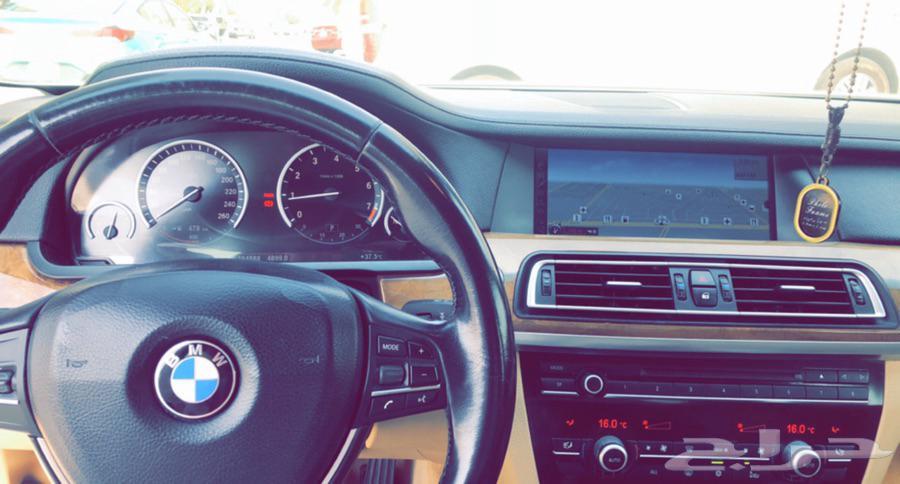 ( بي ام BMW ) 740 لون ابيض 2009