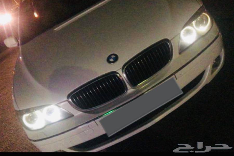 تغير لون الحلقات من الاصفر الى  الابيض BMW