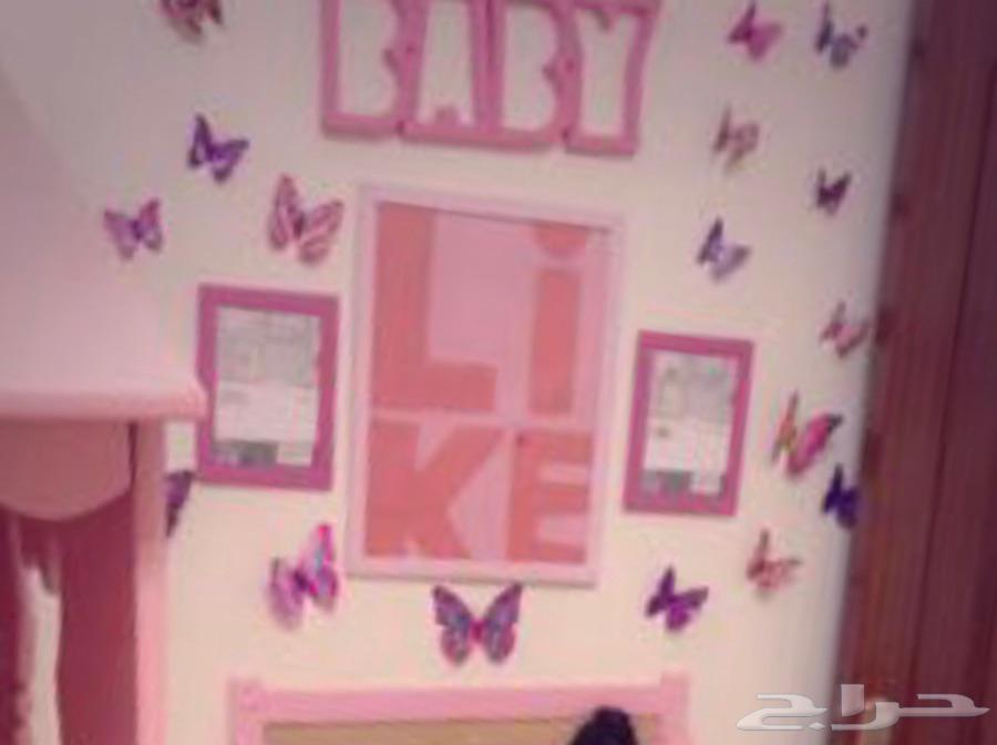 غرفة اطفال بنات جديدة مع درج وزحليقة وتسريحة تفصيل شخصي