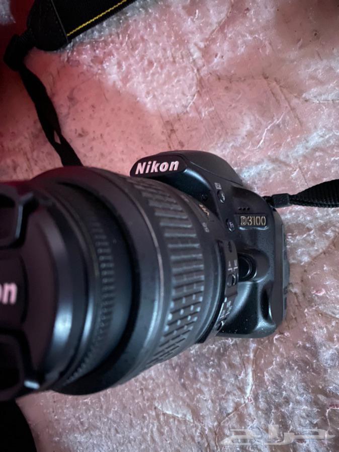 كاميرا نيكون D3100 نظيفه   عدسة 300-70 الاصلية