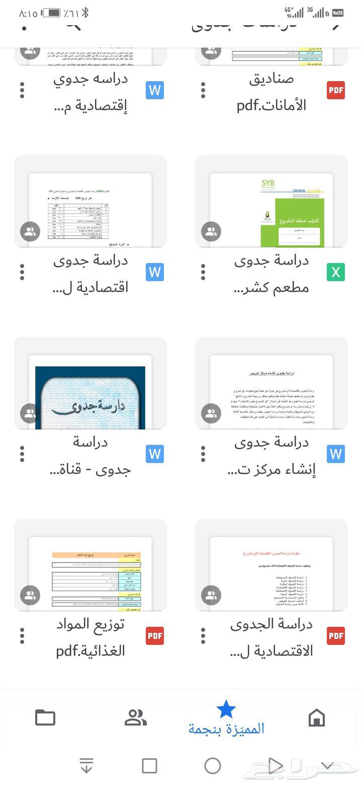 دراسات جدوى للمشاريع