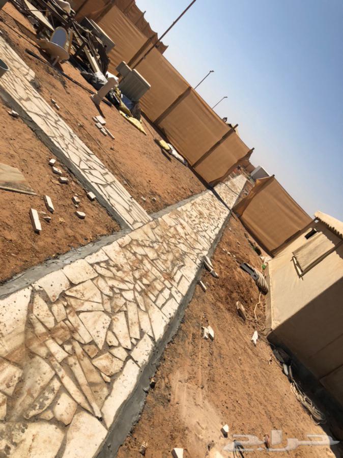 تجهيز مخيمات كامل بيوت خيام ممرات عشواءي