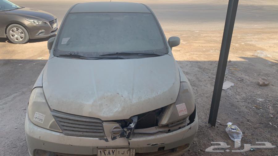 سيارة تيدا موديل 2006 بدون مفتاح الاستماره منتهية