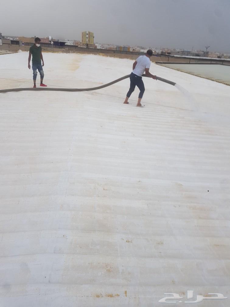 شركة عزل اسطح وخزانات المياه عول اسطح فوم