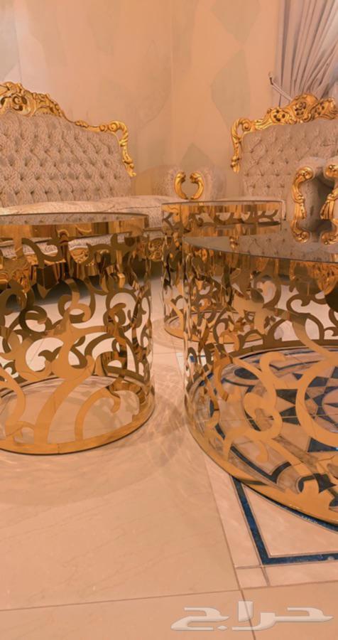 طاولات رسميه للمجالس مستعمله جديده قص ليزر بالرياض