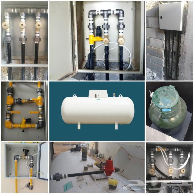 تمديد شبكات الغاز المركزي وصيانة فورية لشبكات