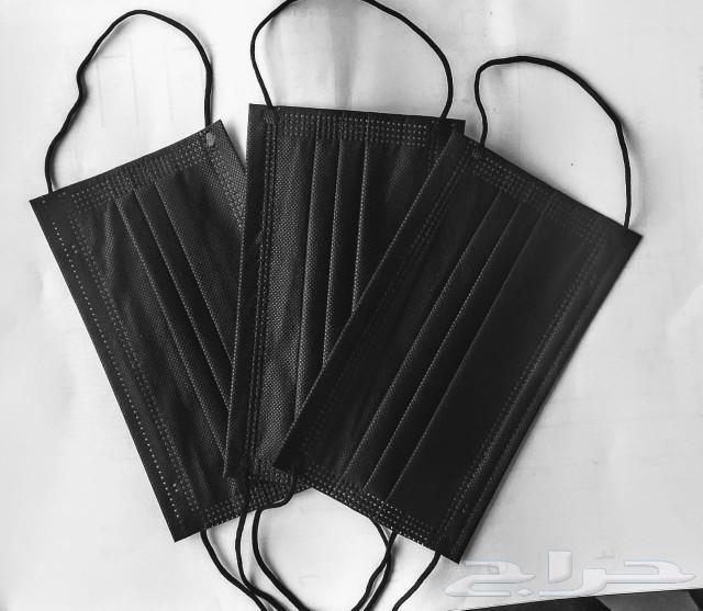 جميع الكمامات عادية أسود وأزرق وثري إم