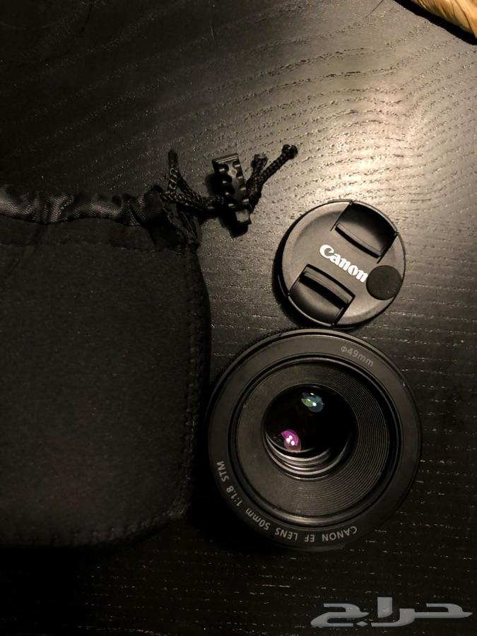 عدسه كانون canon lens 50mm