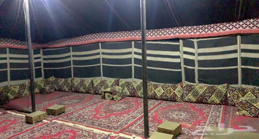((عرض خاص))مخيم قسمين للايجار ب 350