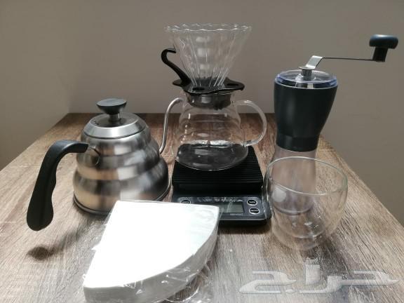 بكج قهوة مقطرة مميز ميزان طاحونة قمع سيرفر