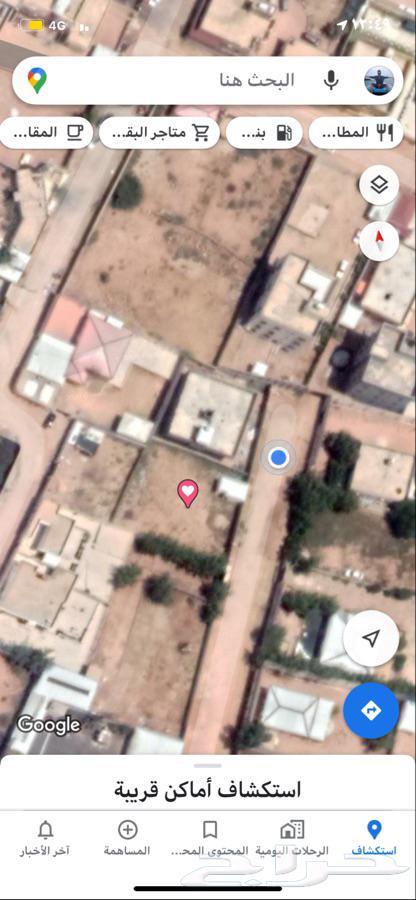 أرض مساحة 884 م2 بحي رحاب خلف بقالة أبونايف بوثيقه وعداد