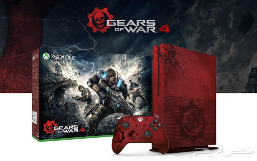 جهاز xbox one s نسخة gears of war