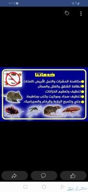 شركة مكافحة حشرات رش مبيدات تنظيف خزانات