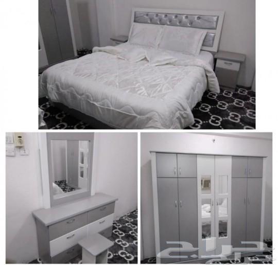 غرف نوم وطني جديده 6قطع الوان مختلفه 1900ريال