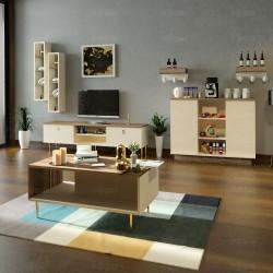 طقم طاولات تلفاز وركن قهوة وطاولة قهوة SH36