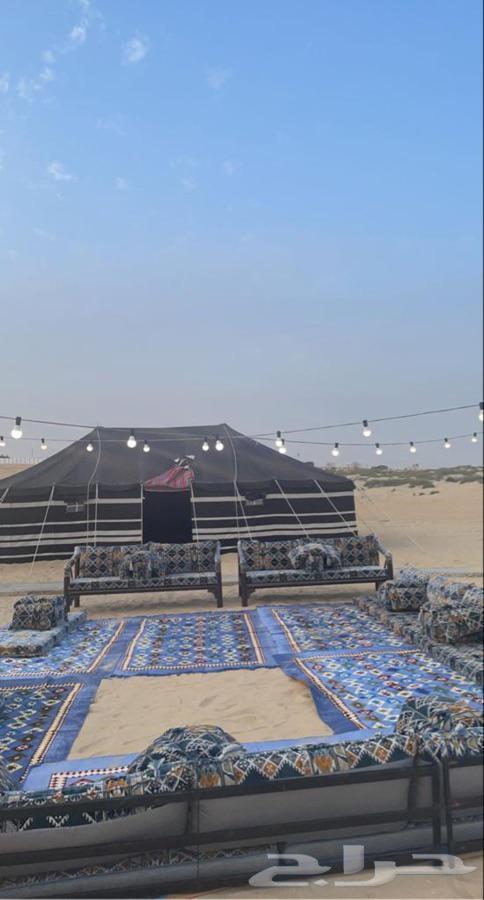 مخيم الشتاء في طريق الرياض الشرقيه