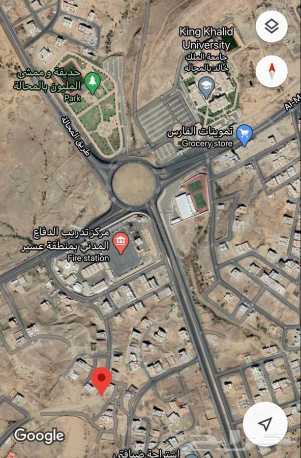 ارض بالقرب من دوار المحاله والدفاع المدني