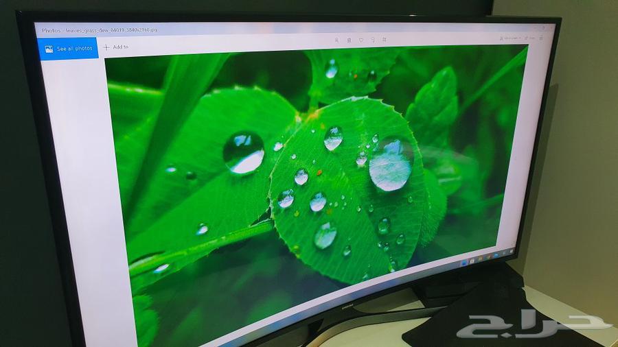 شاشه سامسونج منحنية 4k