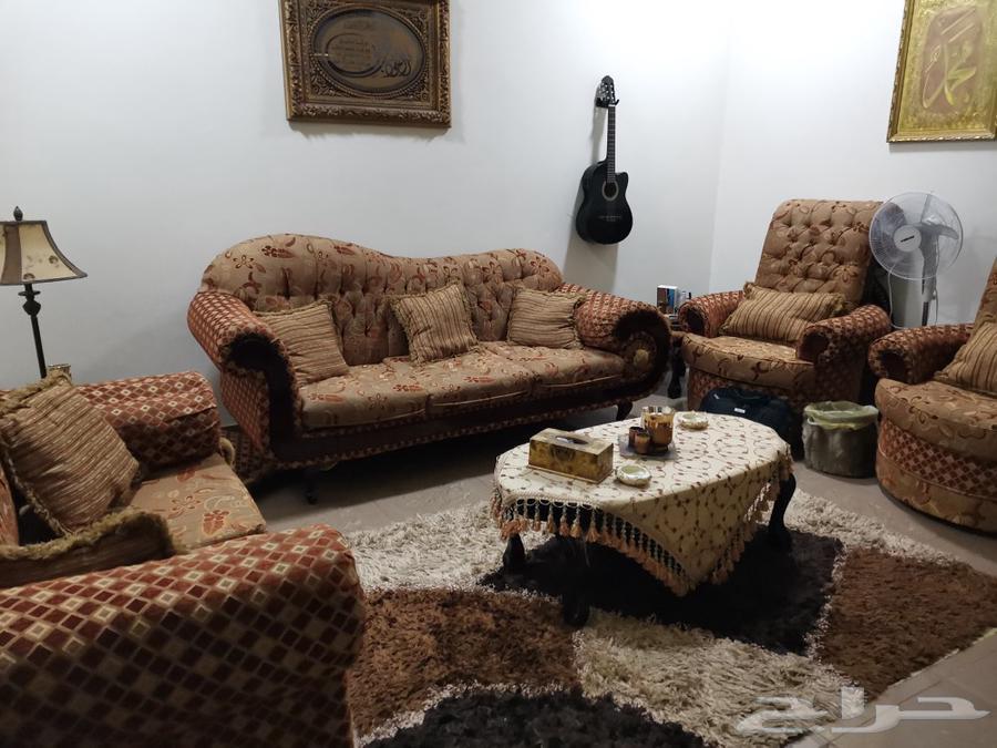 غرفة صالة - مجلس اربع قطع 7 اشخاص - طاولة وصط