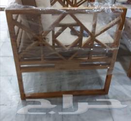كراسي خشب للجلسات الخارجيه تفصيل حسب الطلب