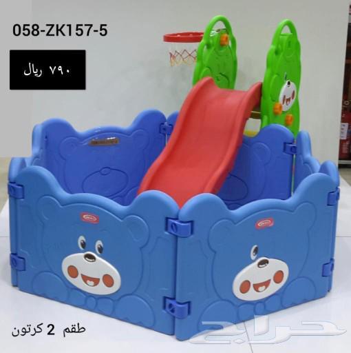 مراجيح خارجية للأطفال ونطاطات احجام مختلفة